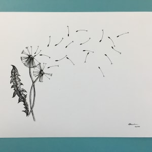 Limited Edition Dandelion Print by Emily Atherden
